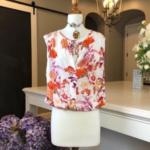 NWT Lucky Brand Fall Floral Sleeveless Top